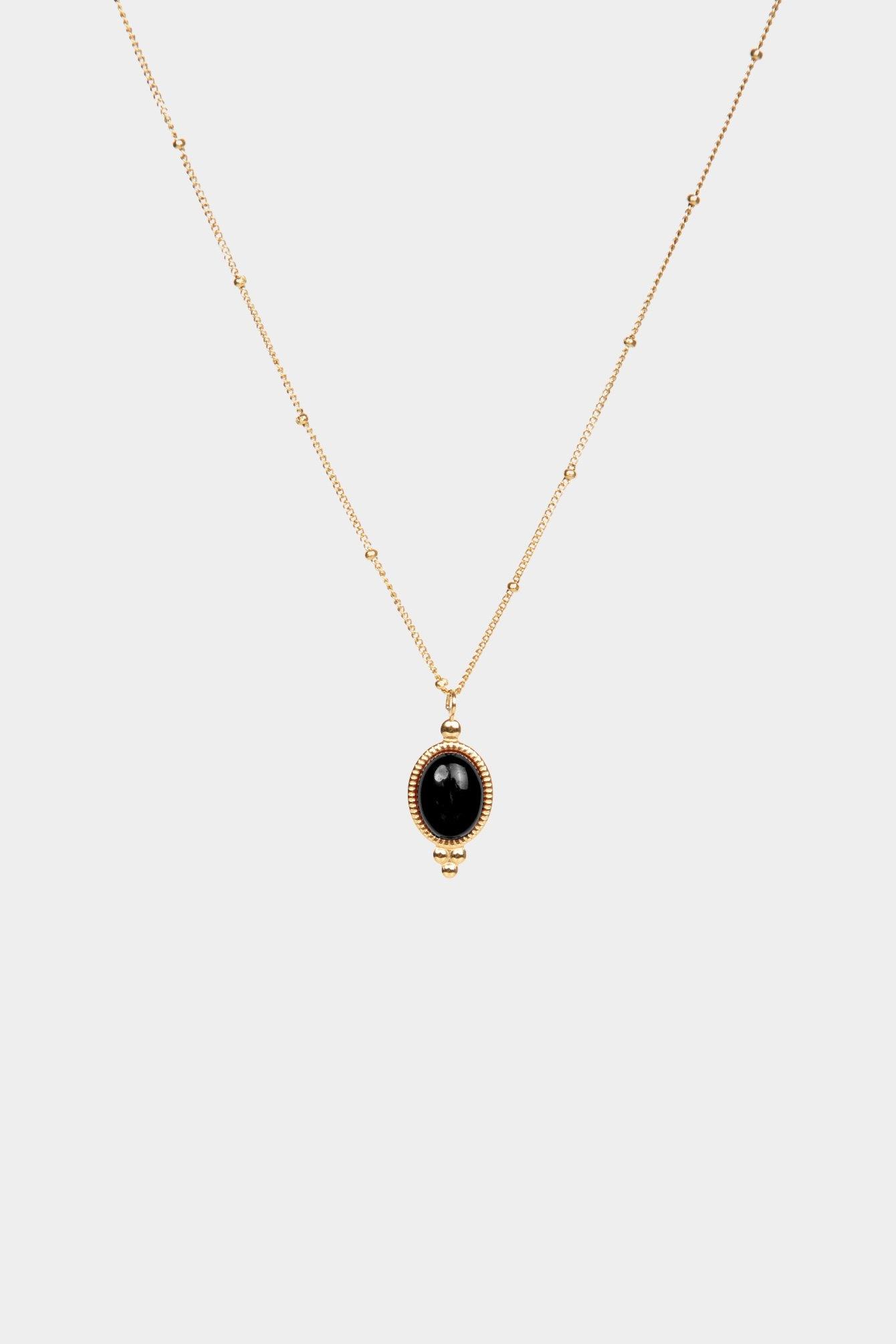 Stone black necklace