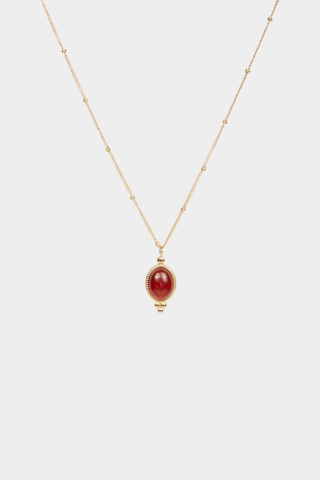 Stone red necklace
