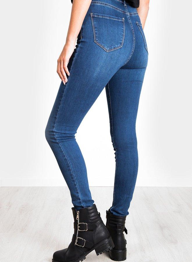 Denim button jeans