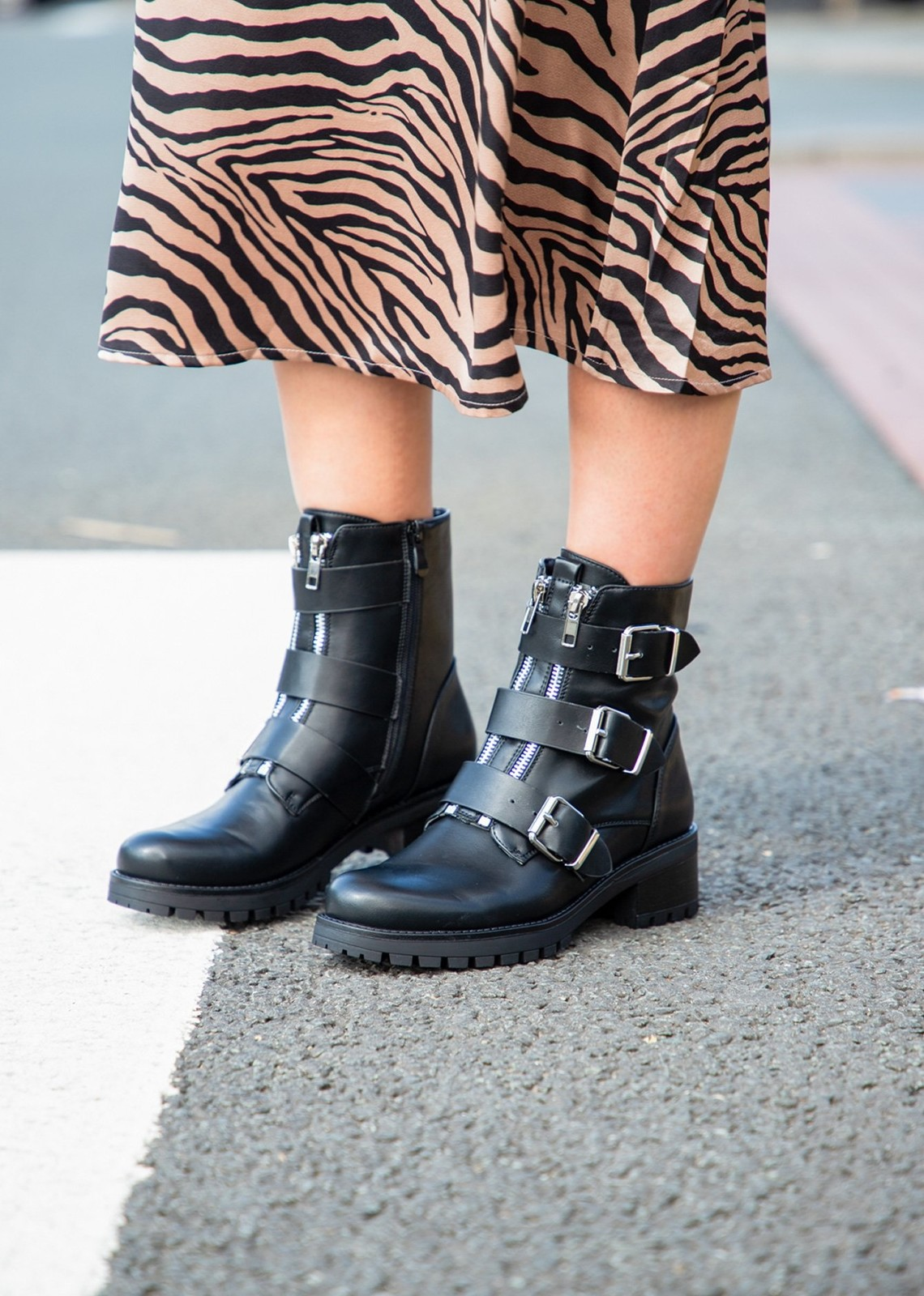 Biker boots Janice