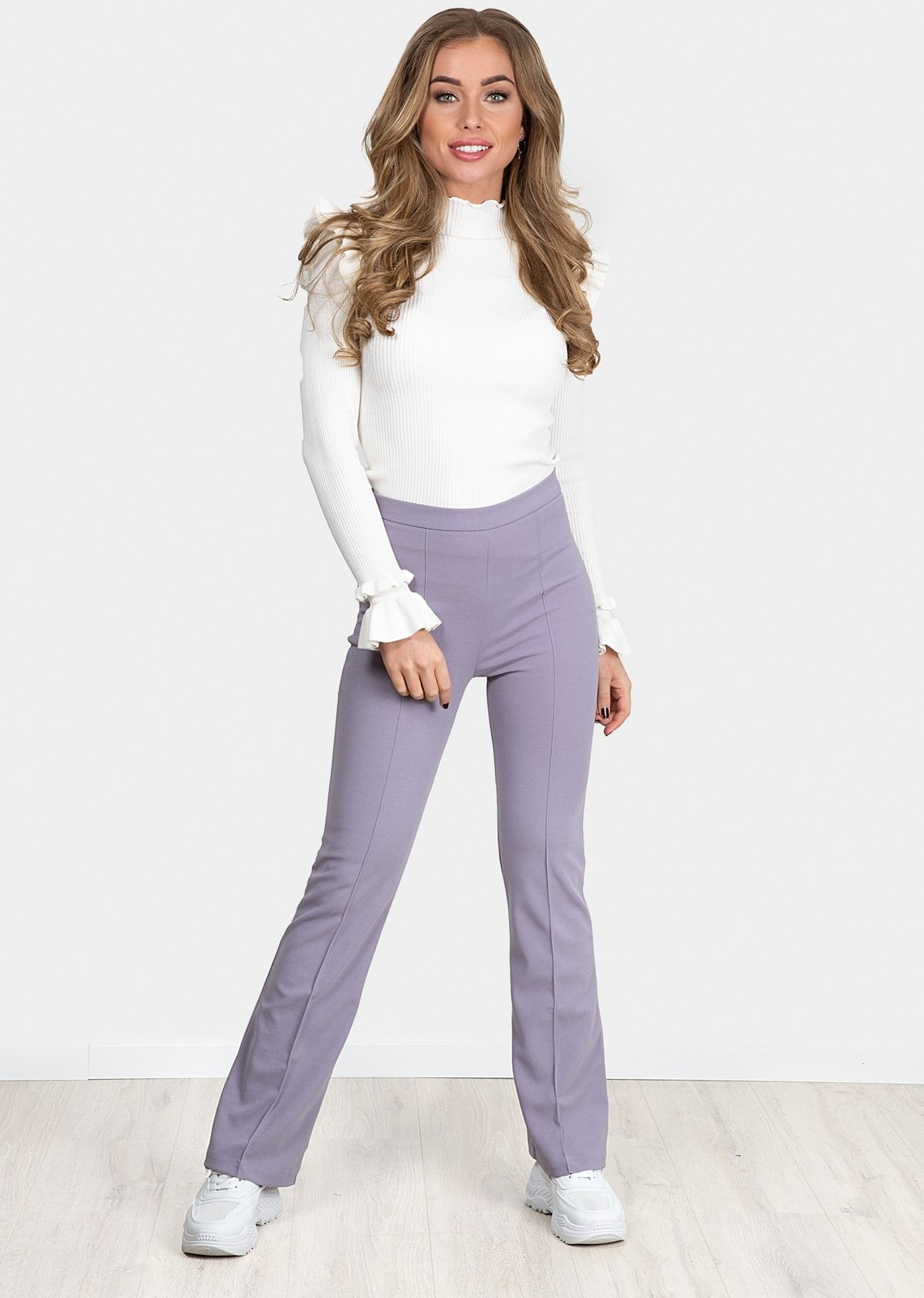 Flare broek Everly lila