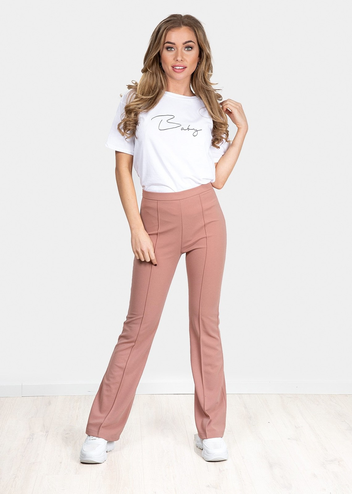 Flare broek Everly pink