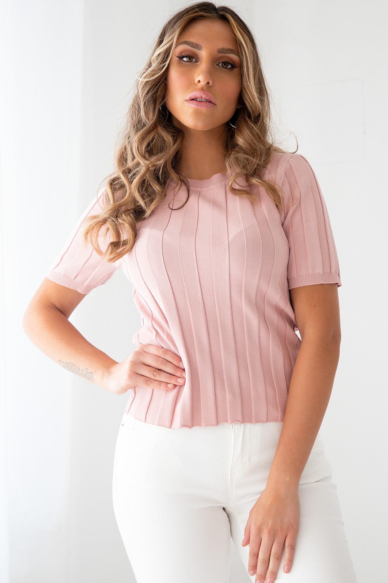 Rib top Jess pink