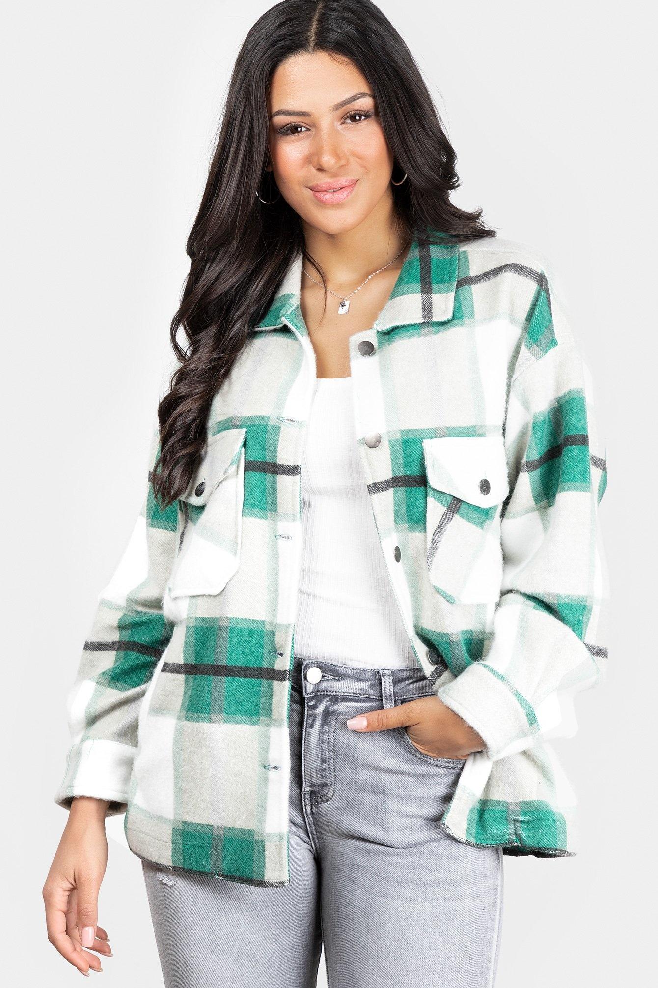 Tartan blouse Clair green