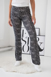 Cheetah flare pants black