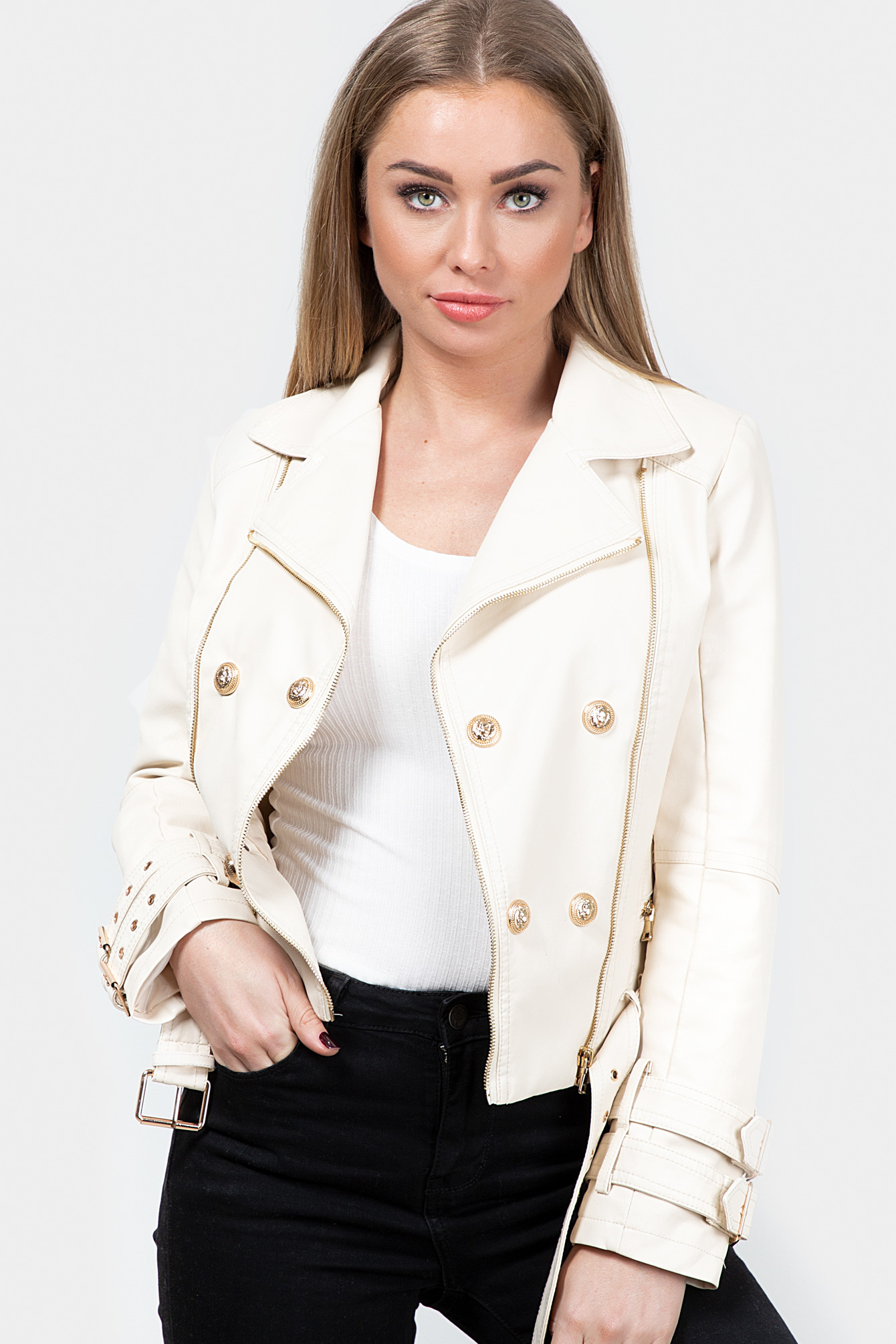 Bikerjacket Carline beige