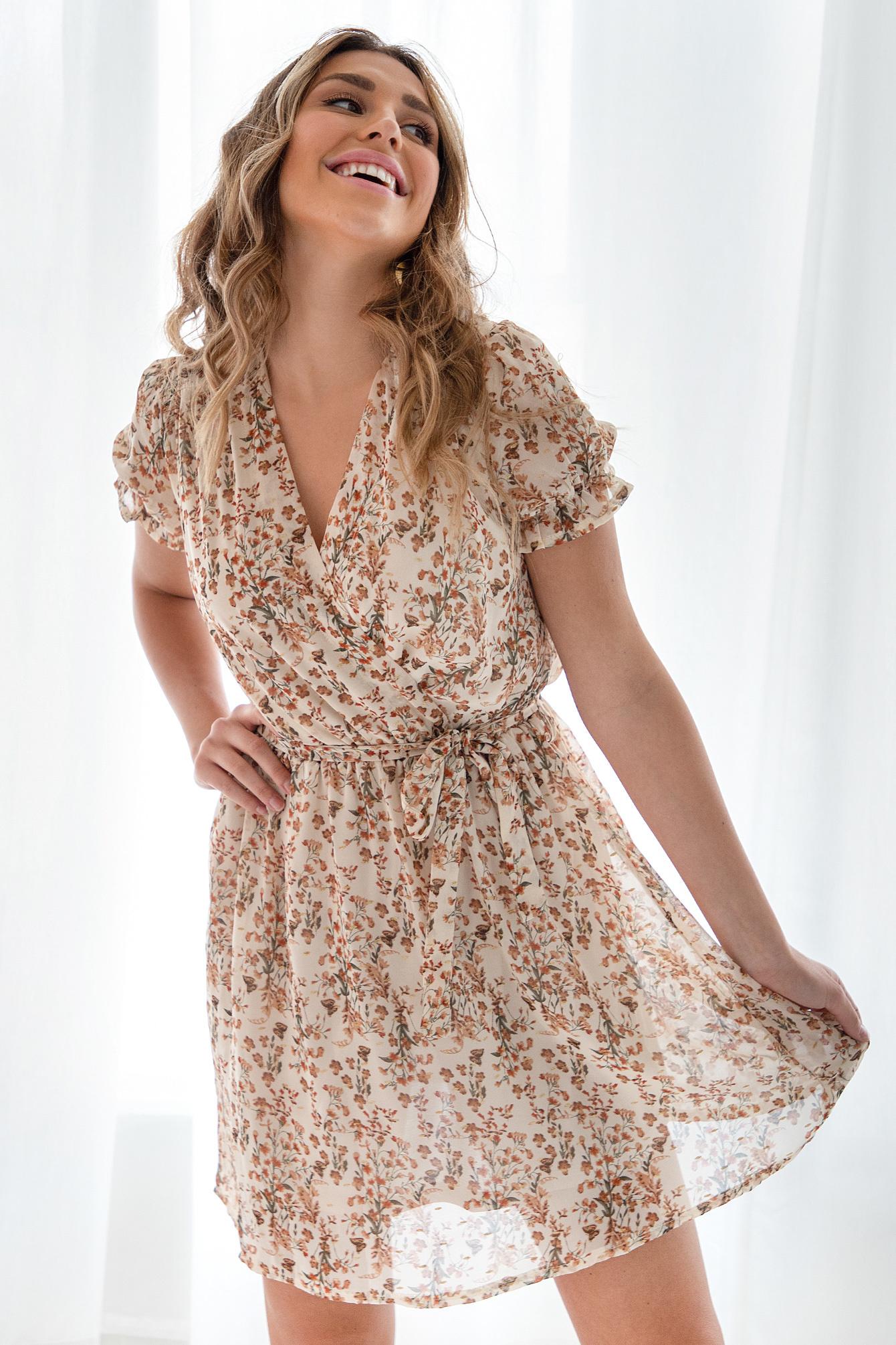 Flower dress Valerie beige