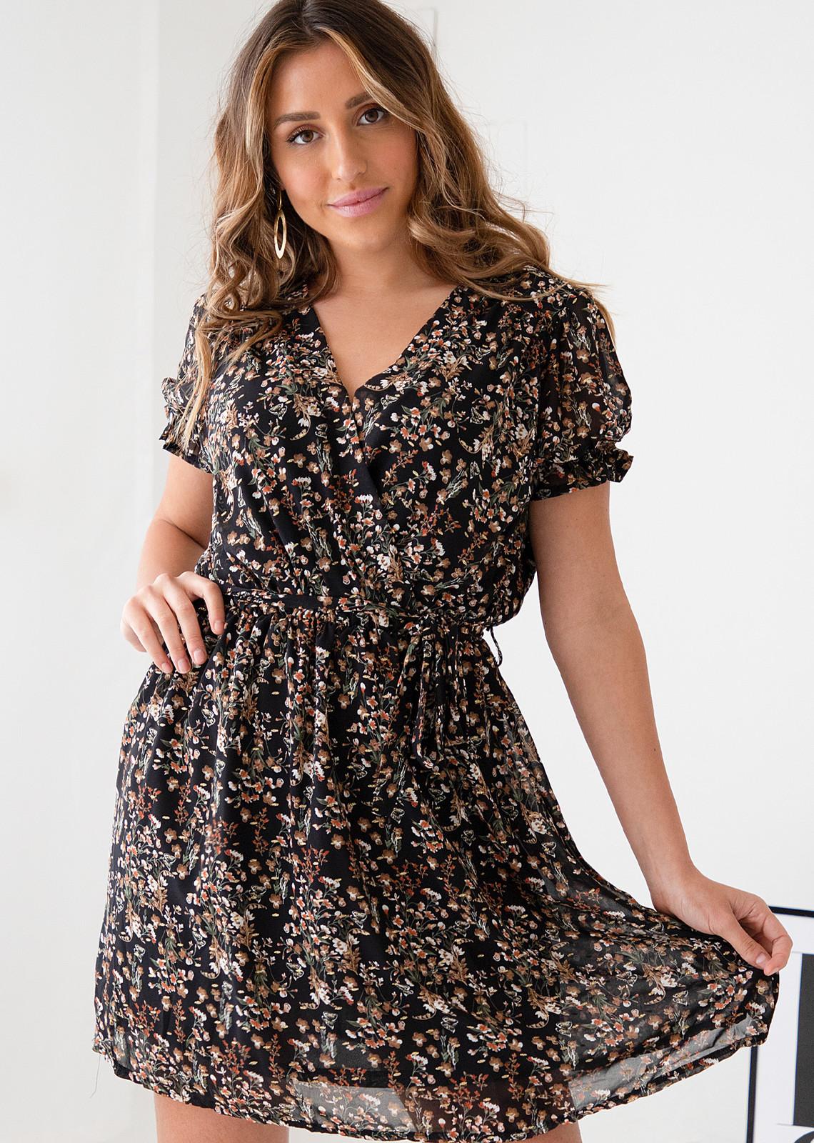 Flower dress Valerie black