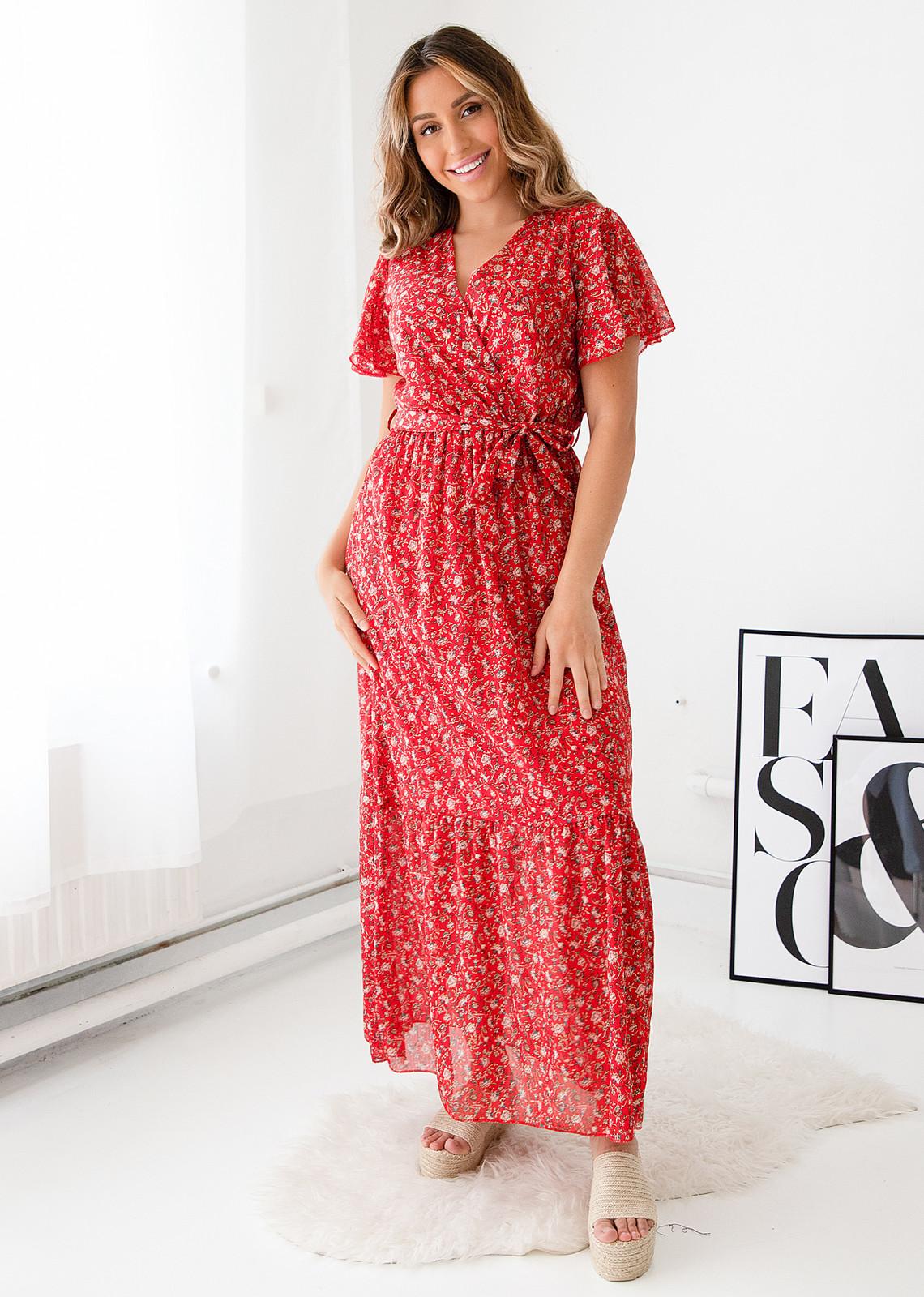 Long dress Anna red
