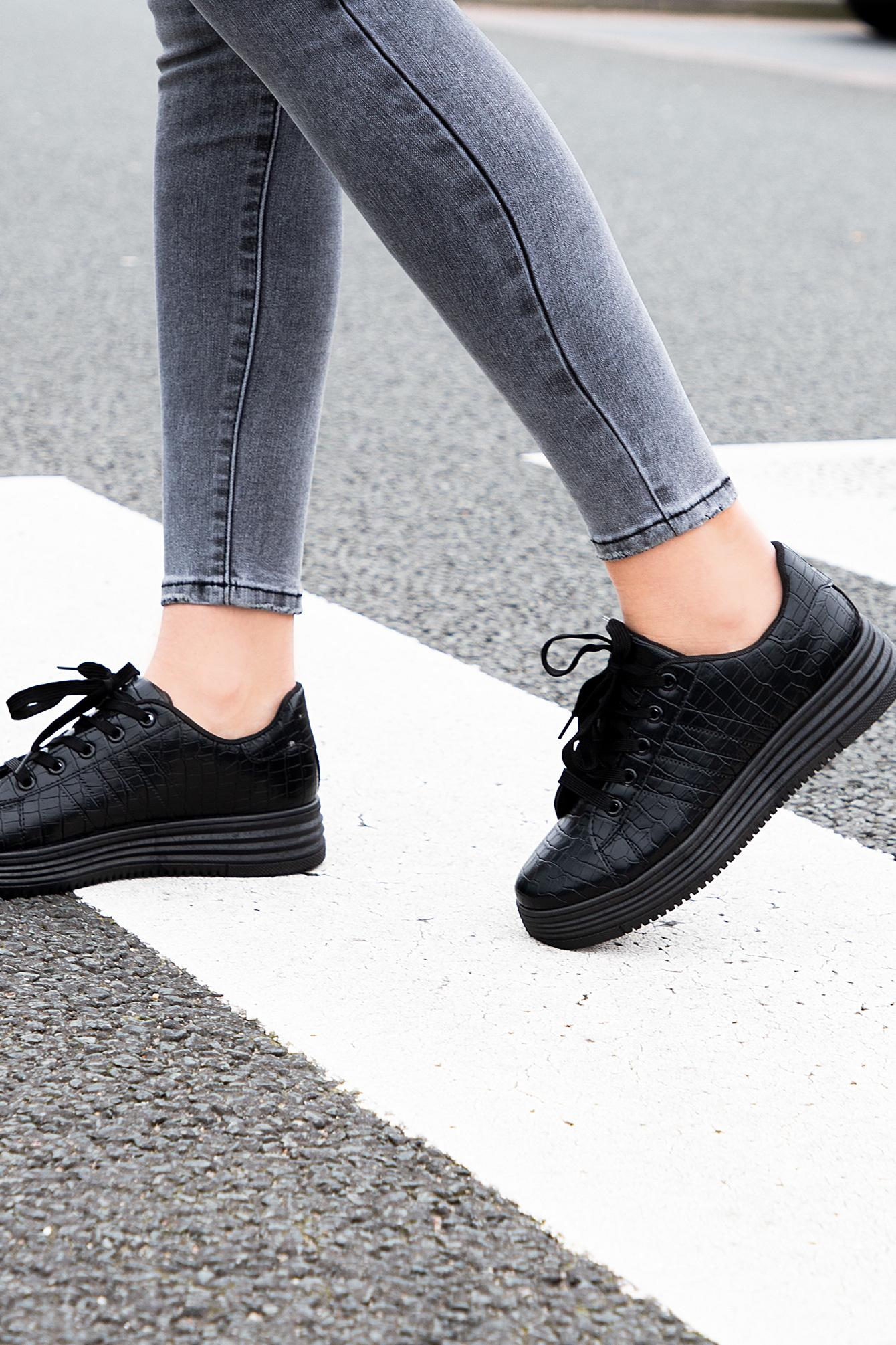 Sneaker snake Meggy zwart