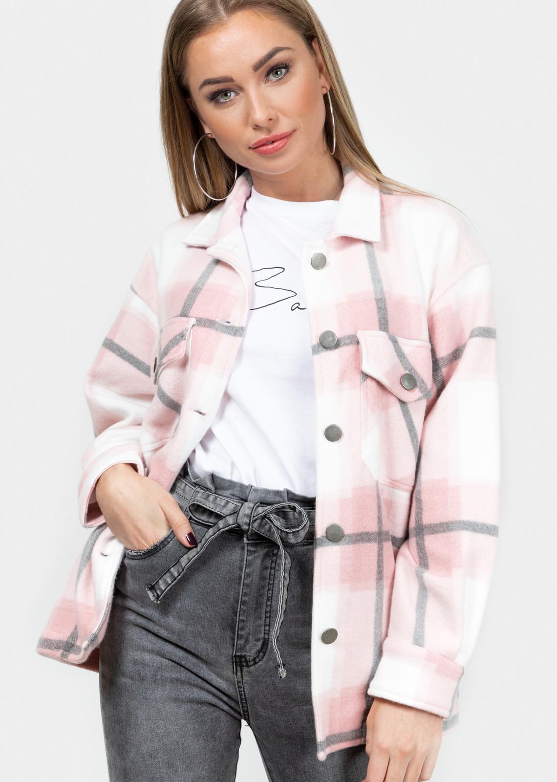 Tartan blouse Clair pink