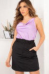 Satin top lila