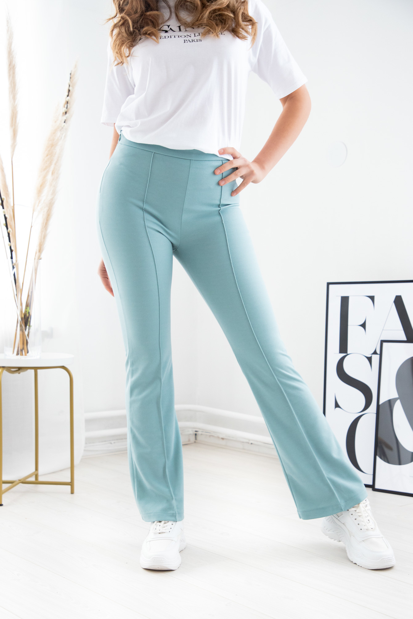 Flare broek Everly blue