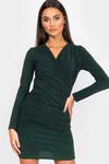 Glitter jurk groen Fabienne