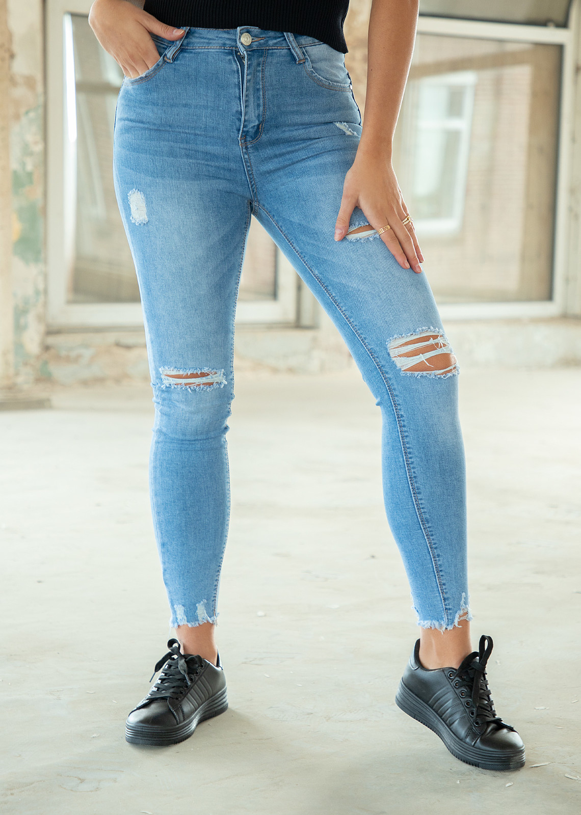 Skinny jeans Tifanny blue