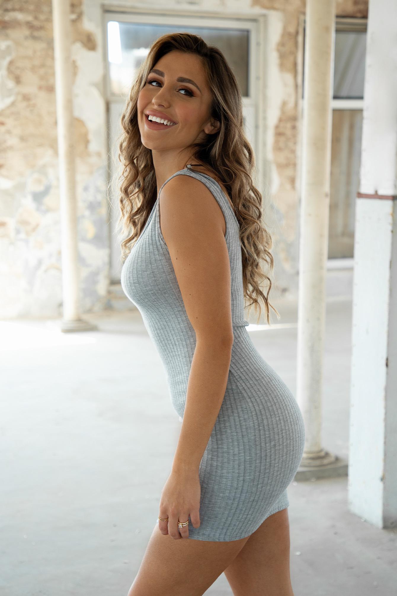 Basic dress Melanie grey