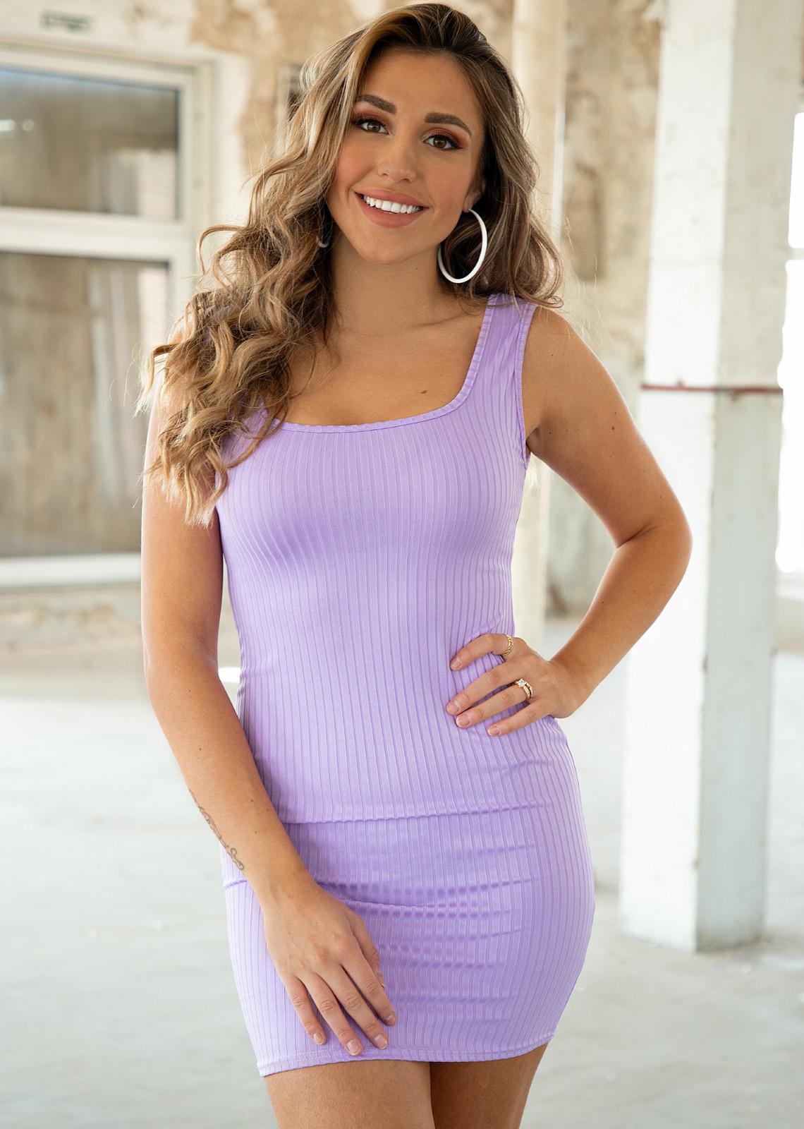 Basic dress Melanie lila