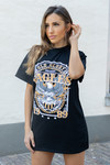 T-shirt dress eagles black