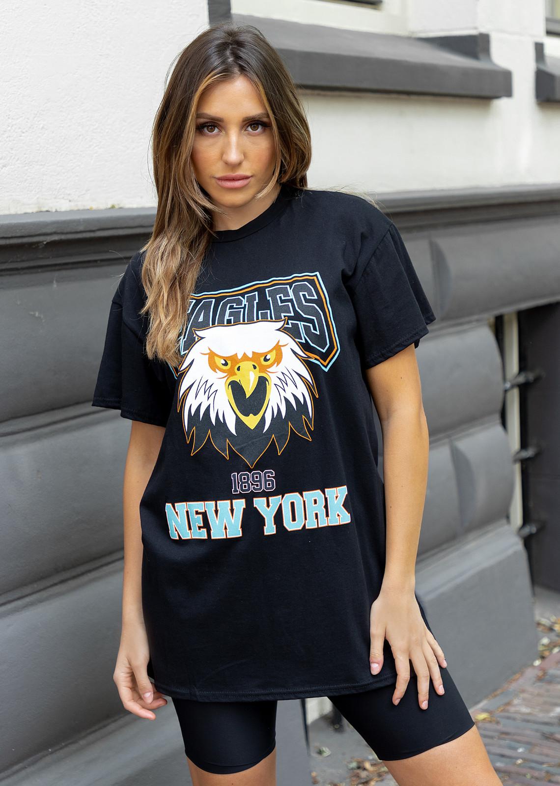 T-shirt dress New York black