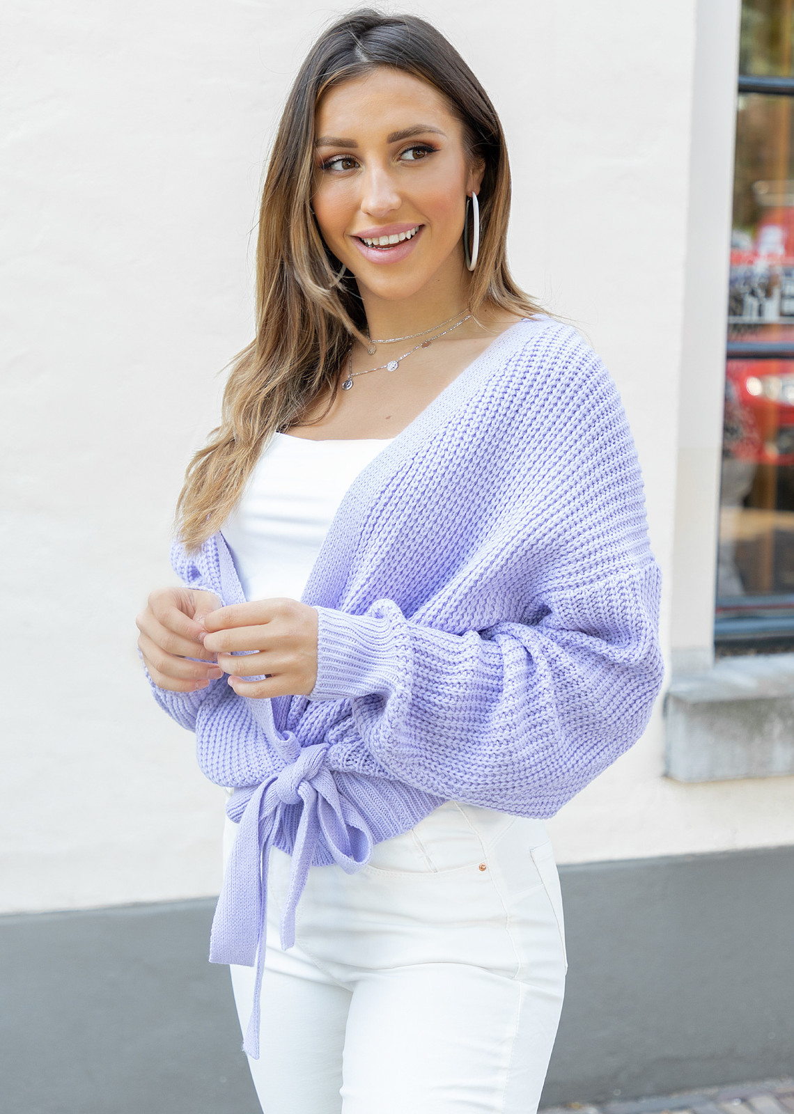 Wrap knit Jazz lila