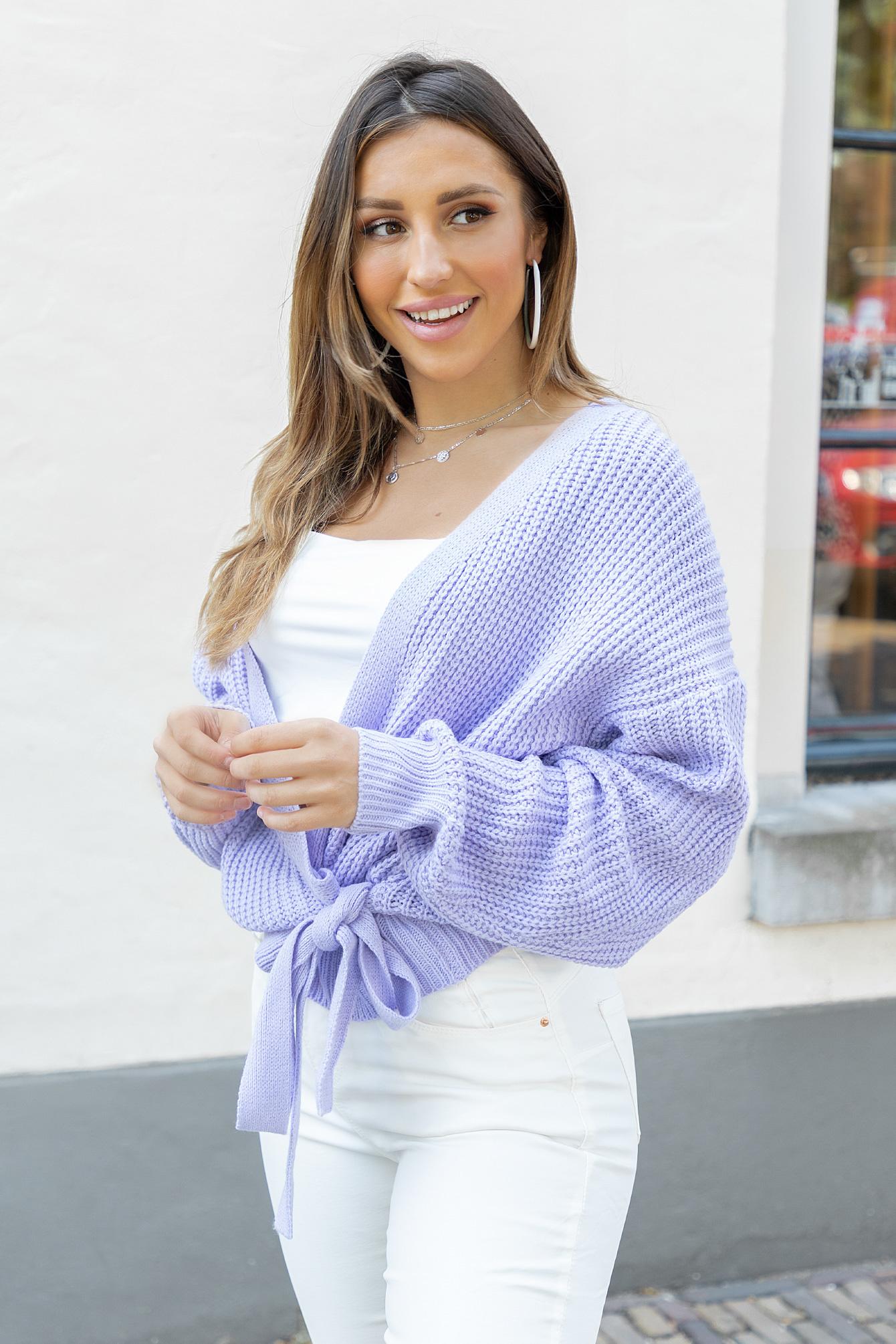 Wrap knit Jazz lila
