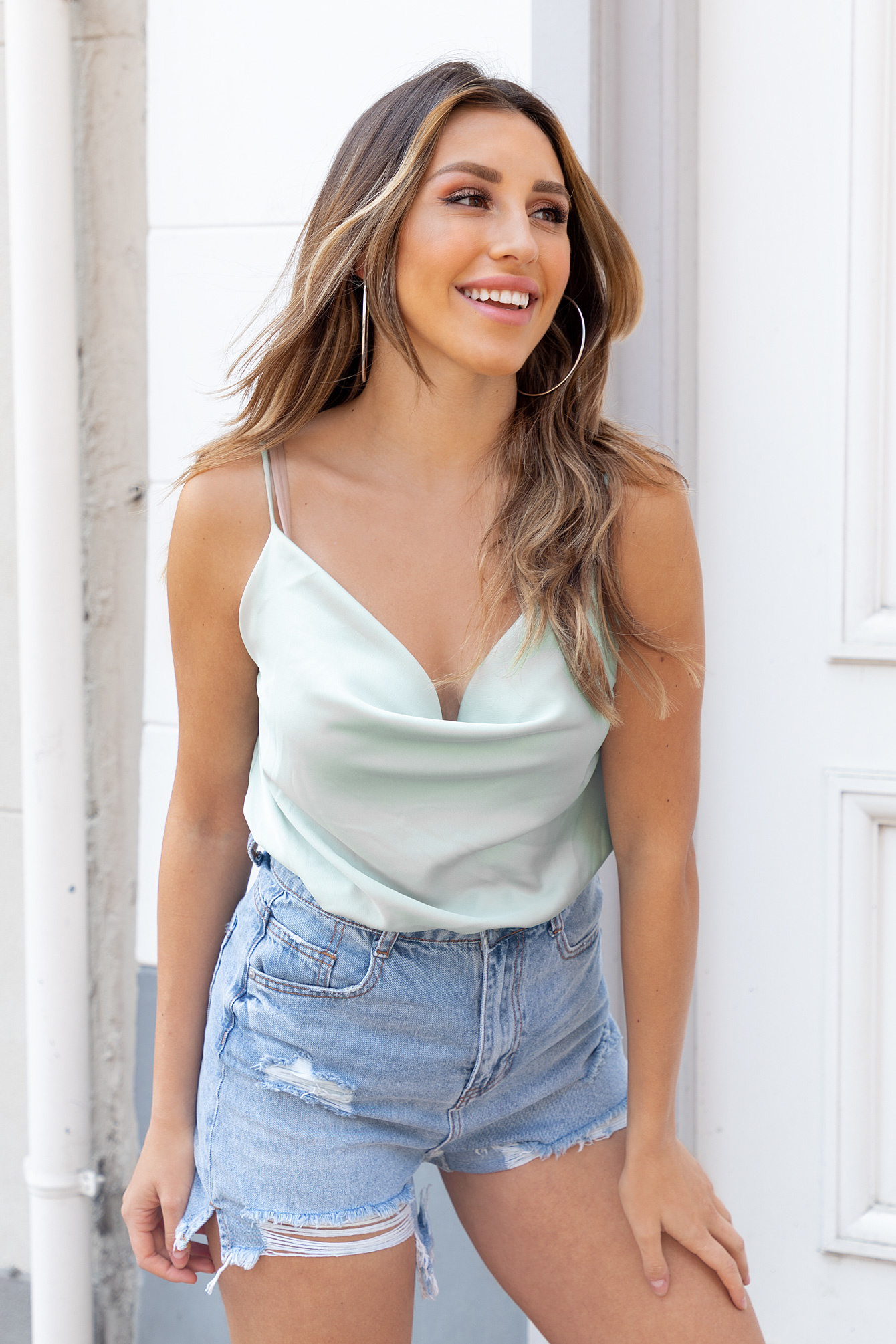 Satin top mint