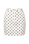 Dots denim skirt beige