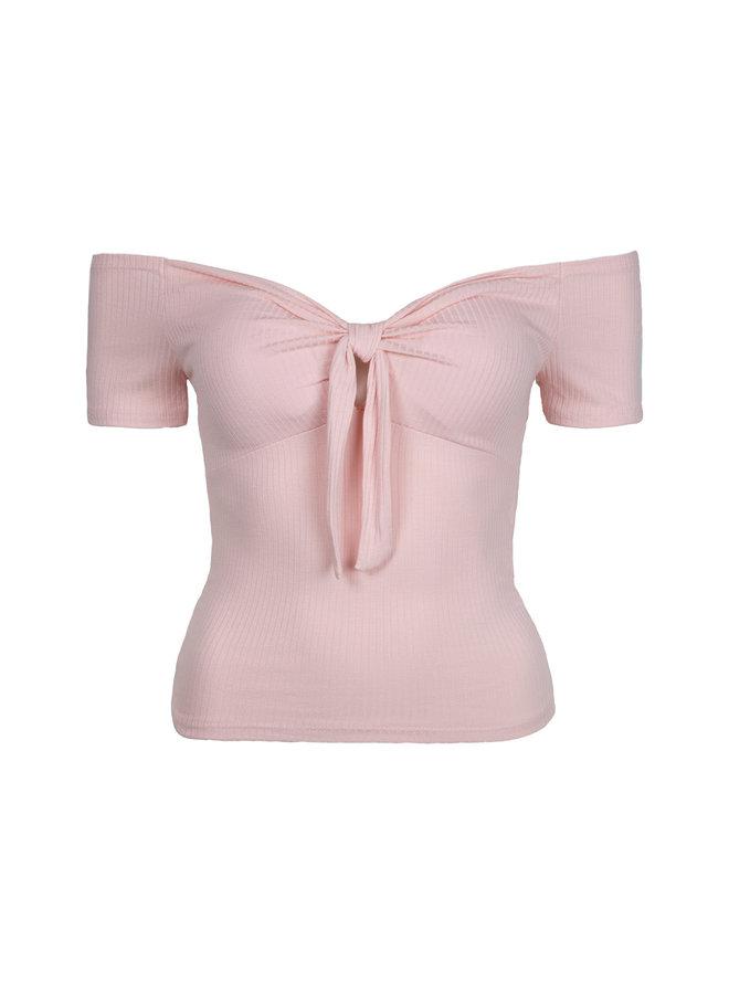 Off shoulder top Valentina pink