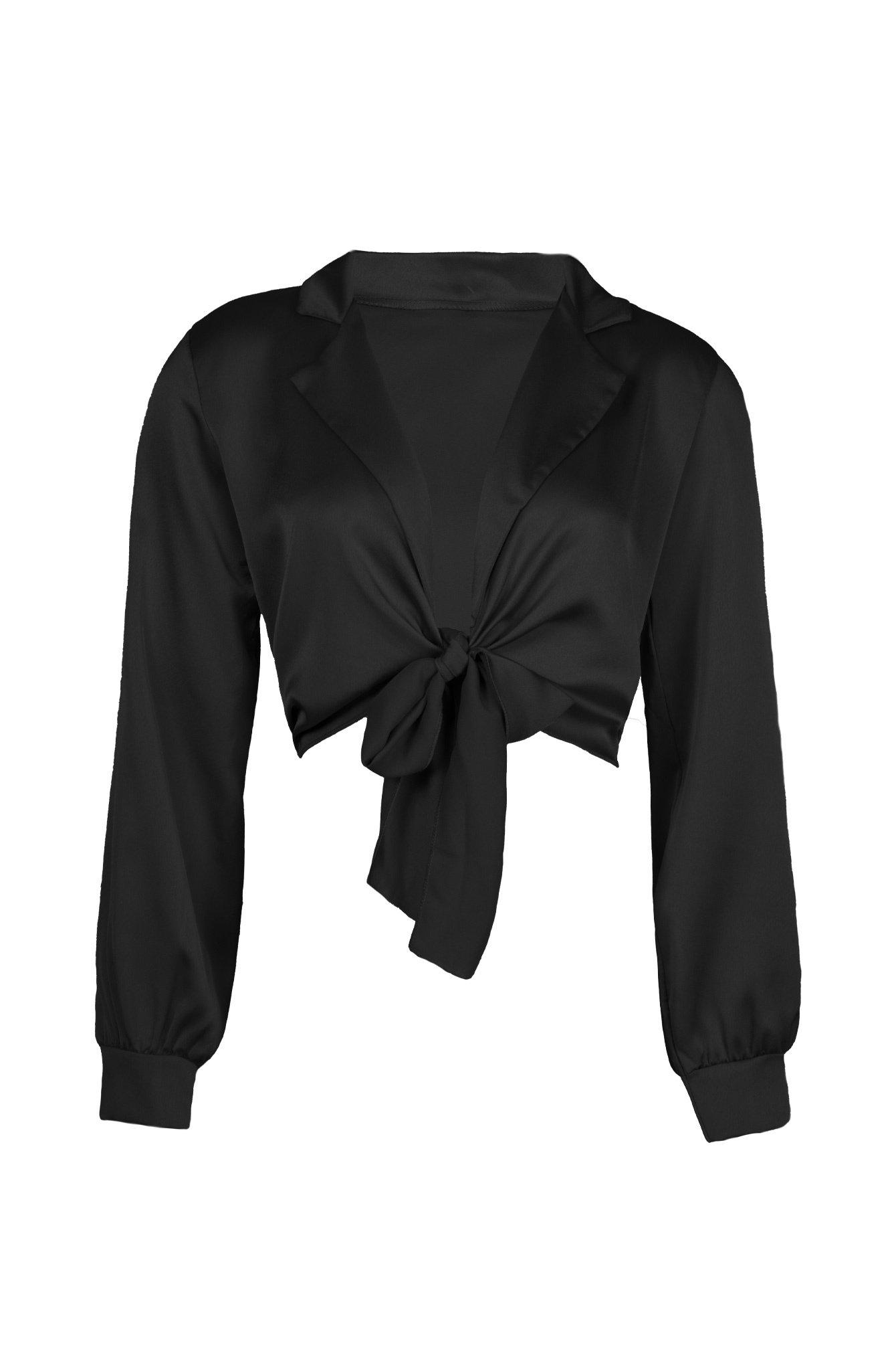 Wrap tie top black