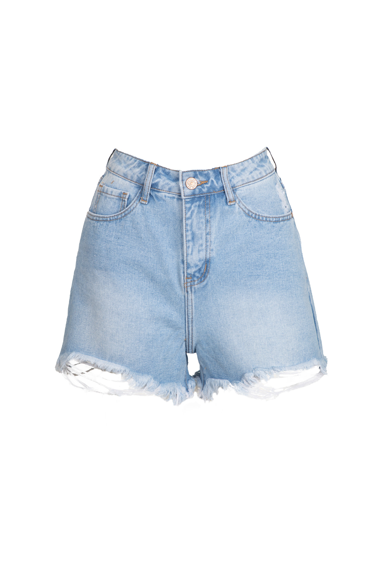 Highwaist short blauw