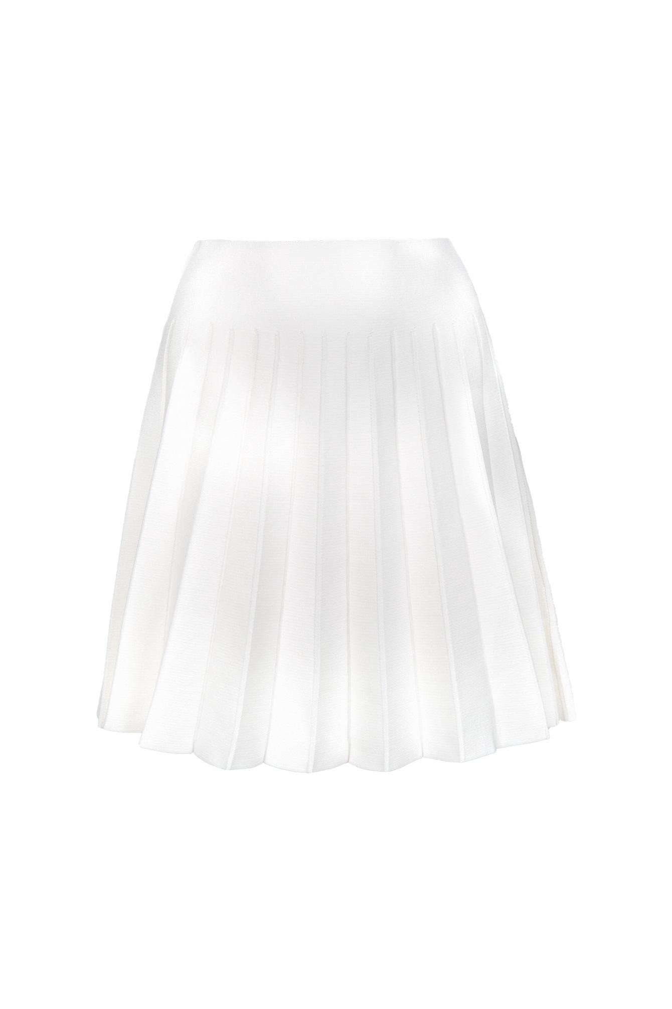 Chrissy pleated skirt white