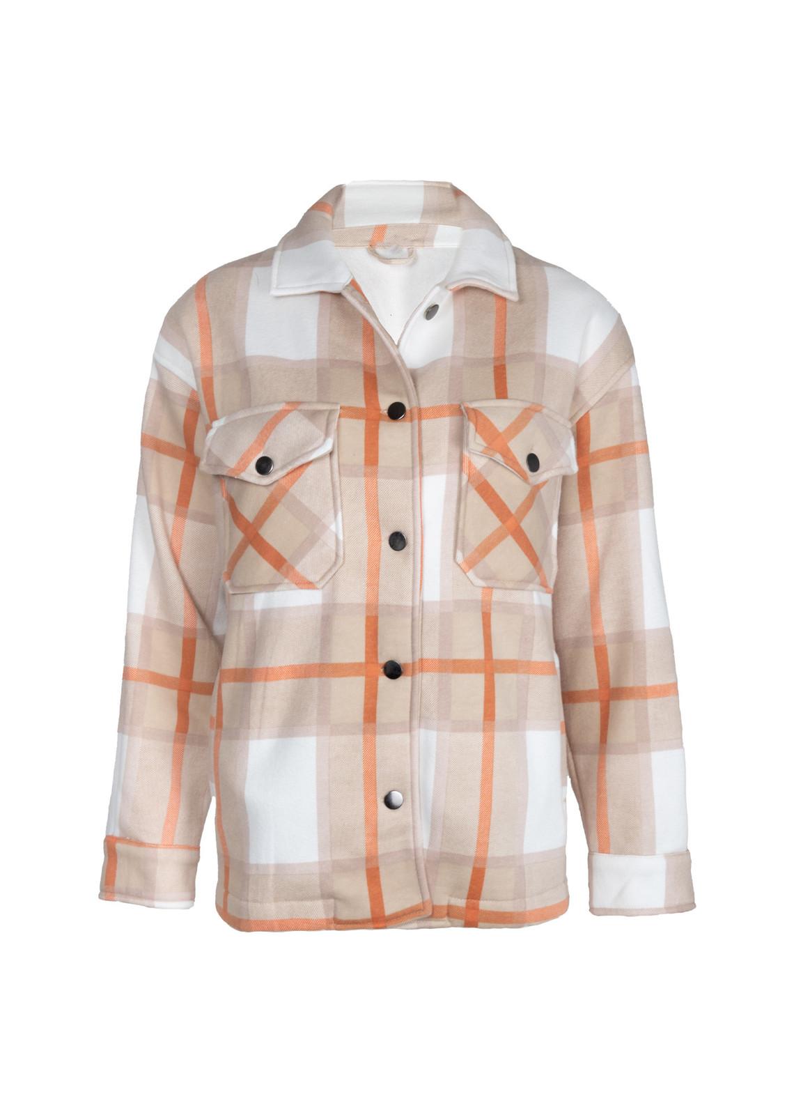 Tartan blouse Gabi beige