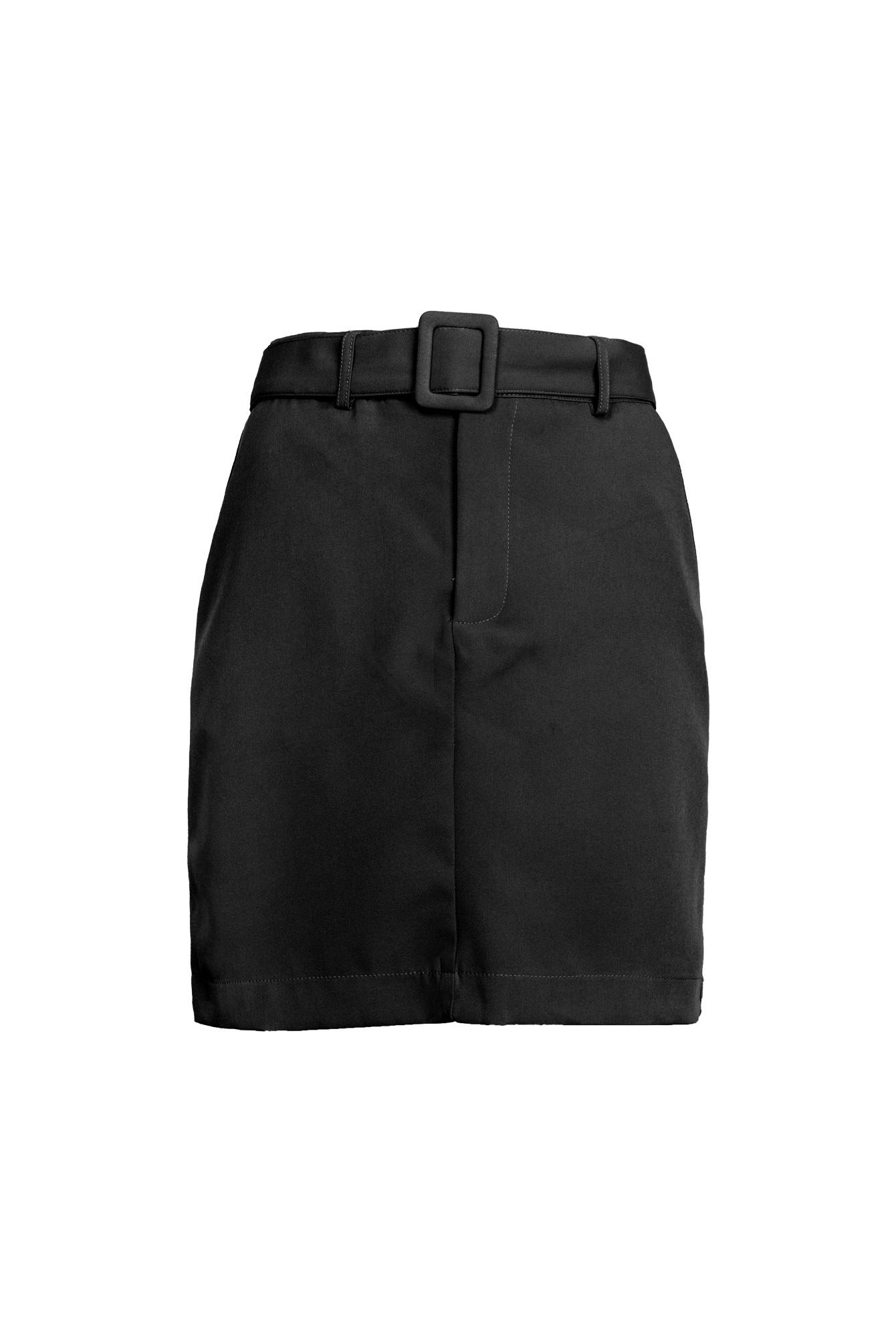 Belted rok zwart