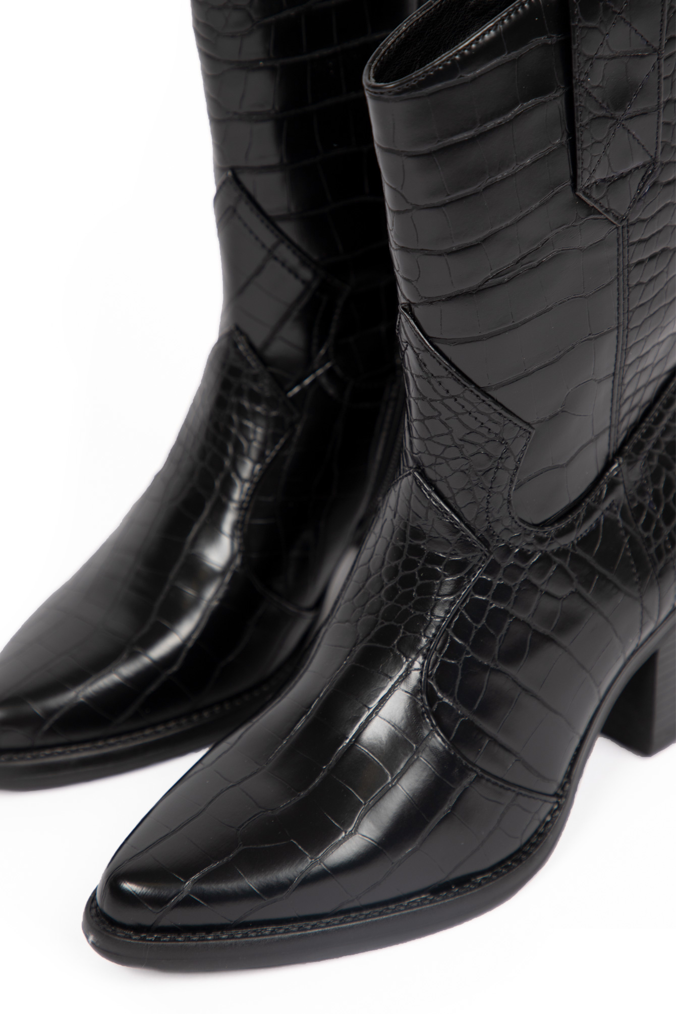 Western boots black