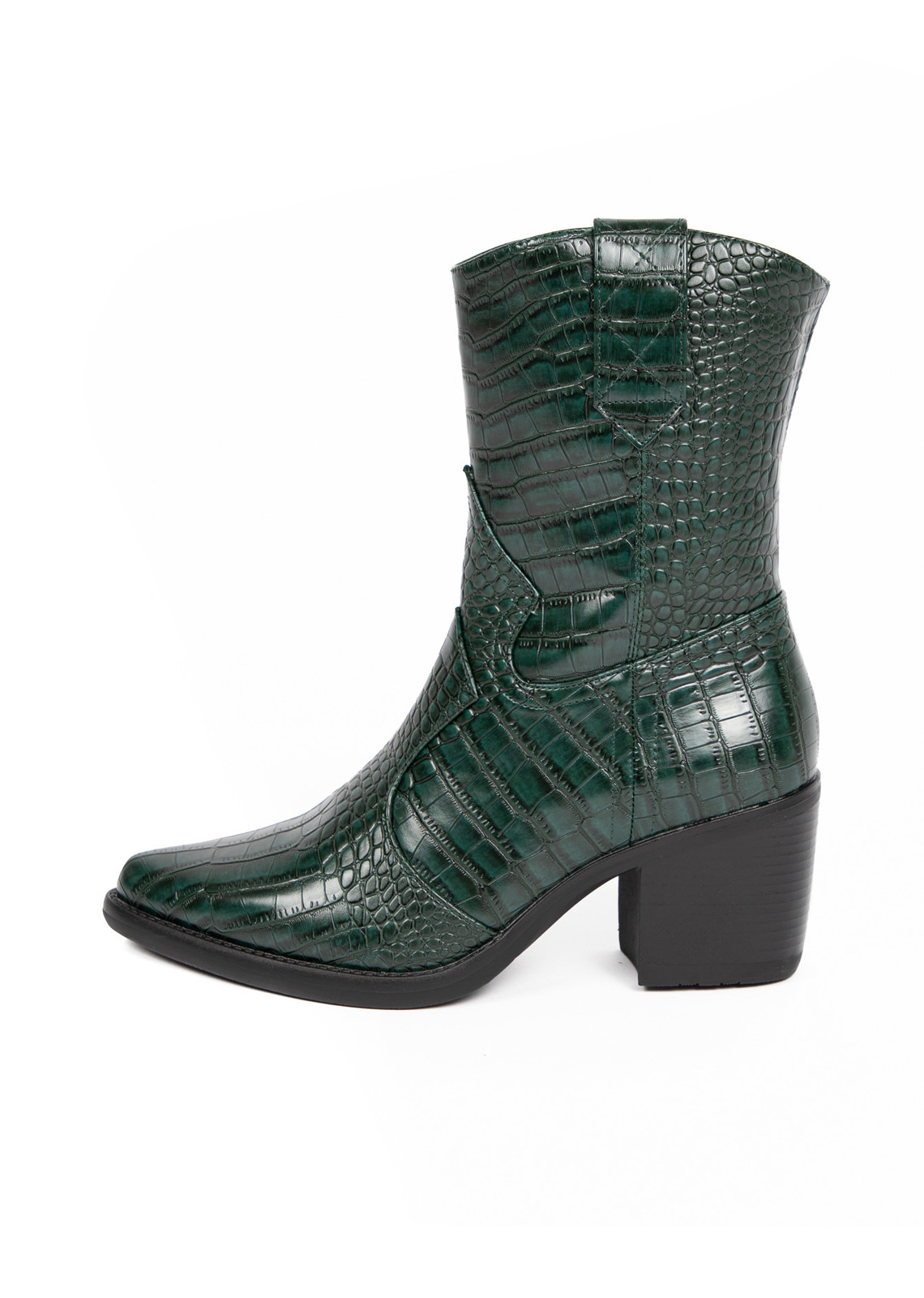 Western boots green