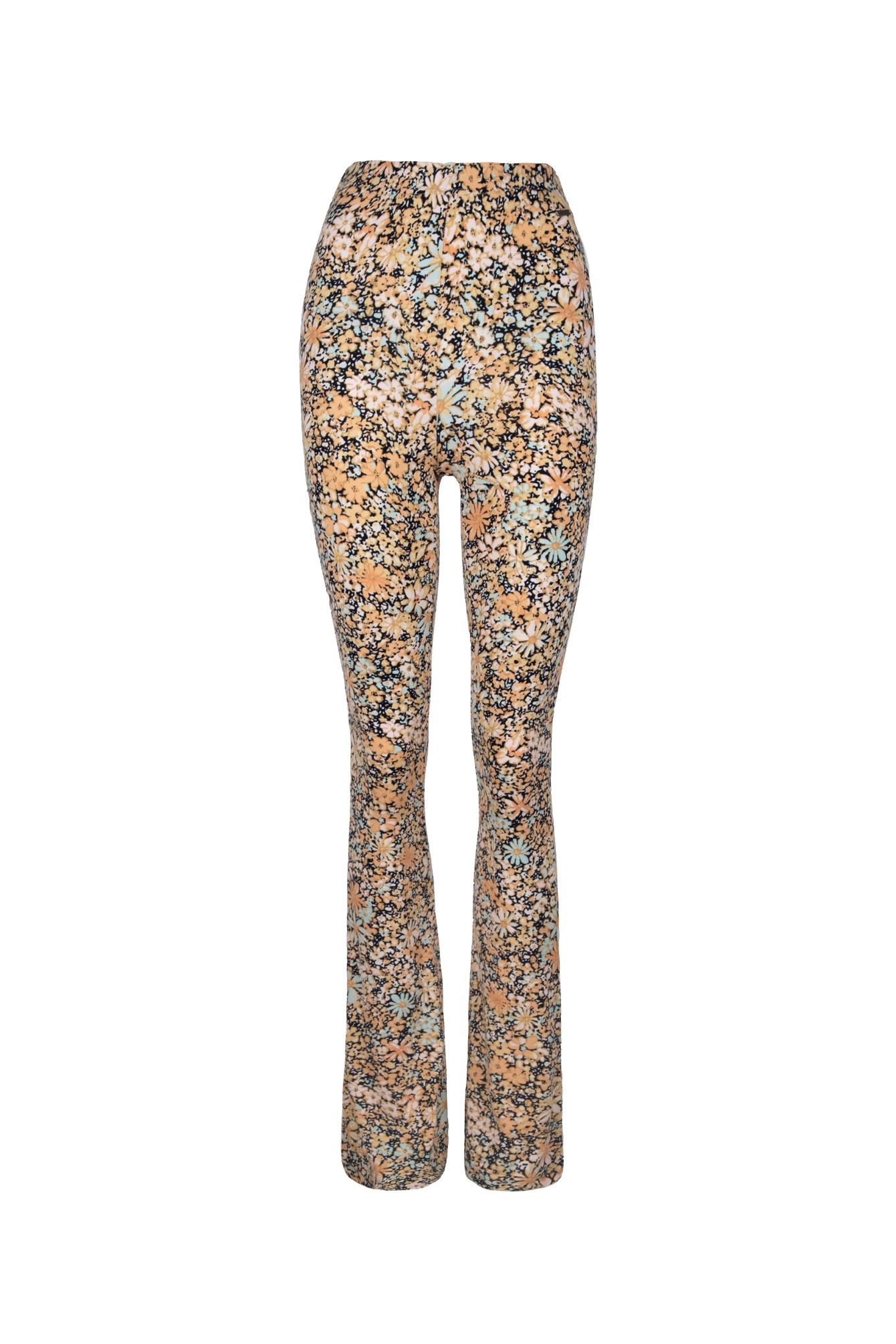 Flare pants flowers