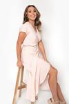 Long wrap dress Gina pink