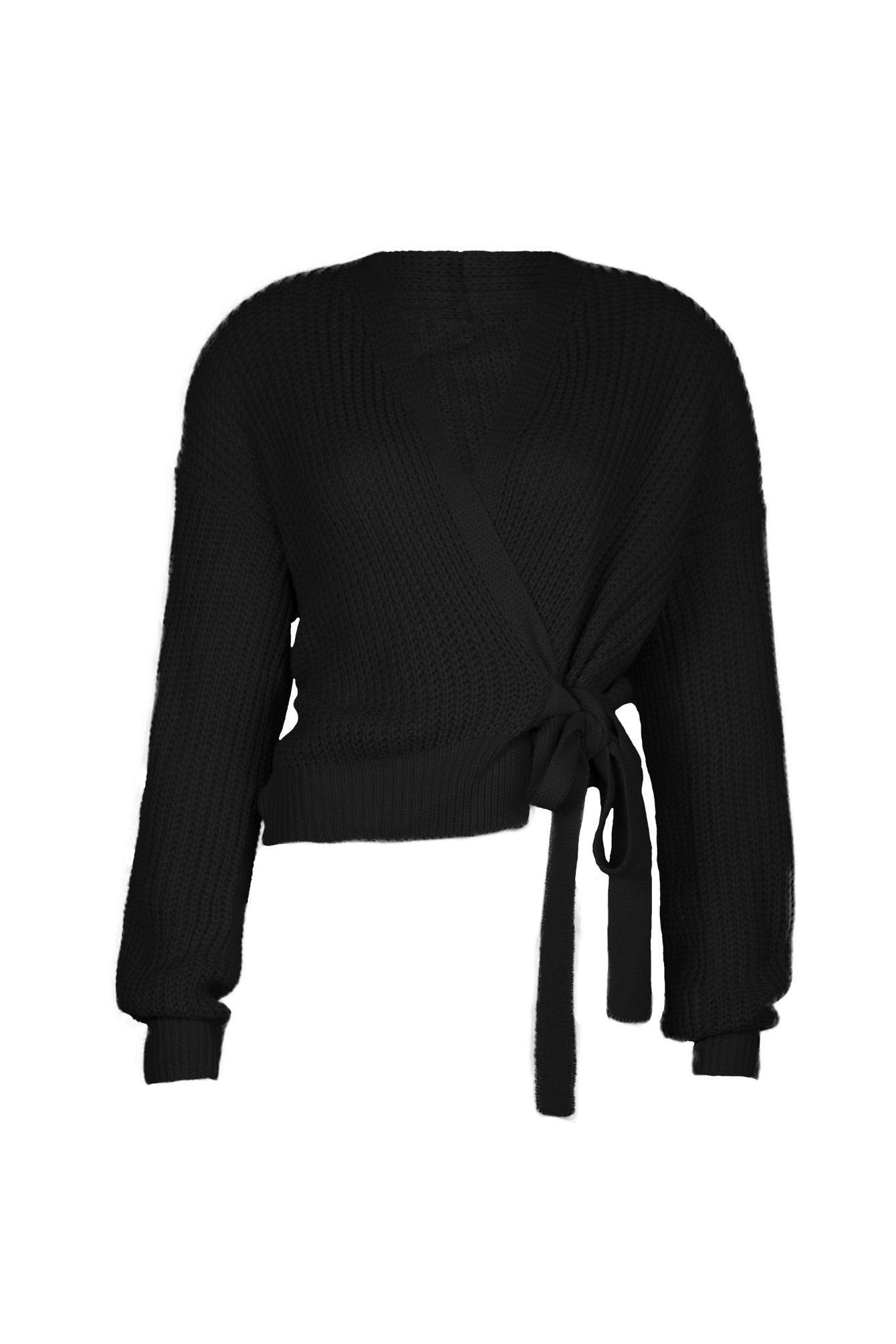 Wrap knit Jazz zwart