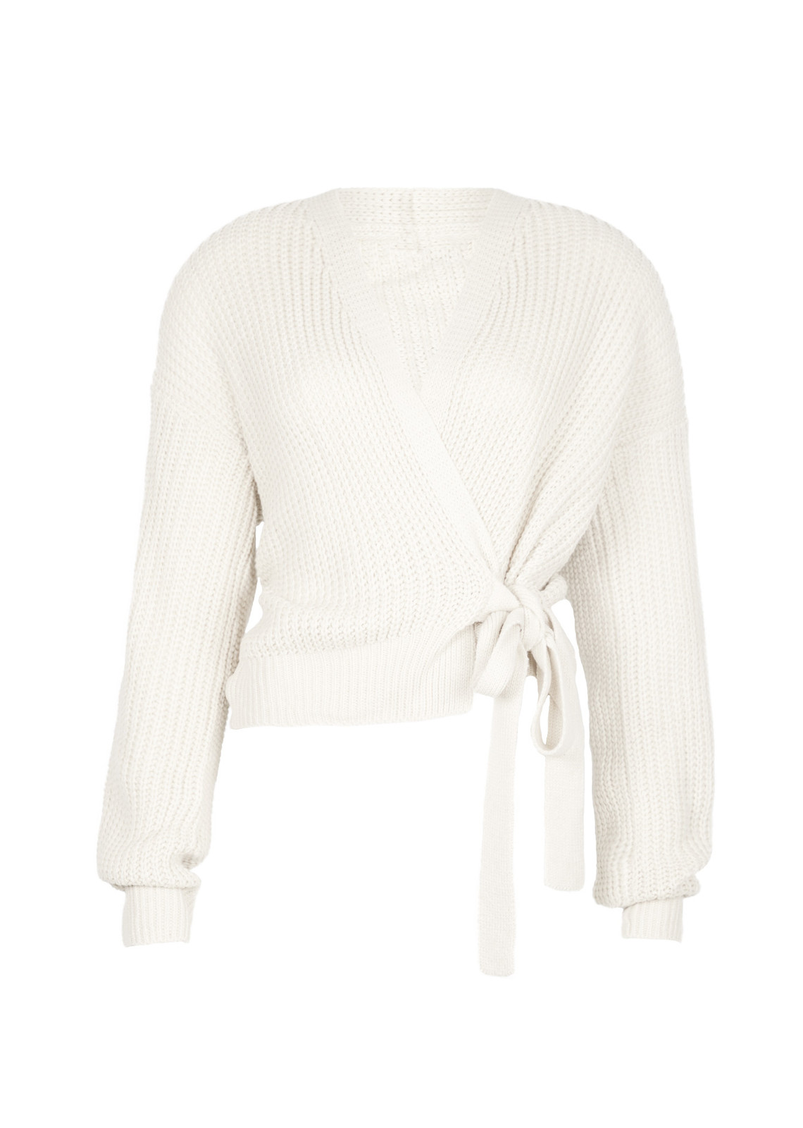 Wrap knit Jazz off white