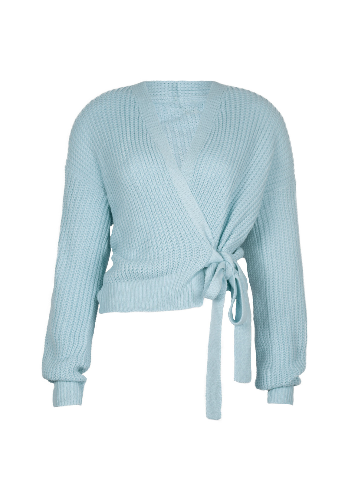 Wrap knit Jazz blue