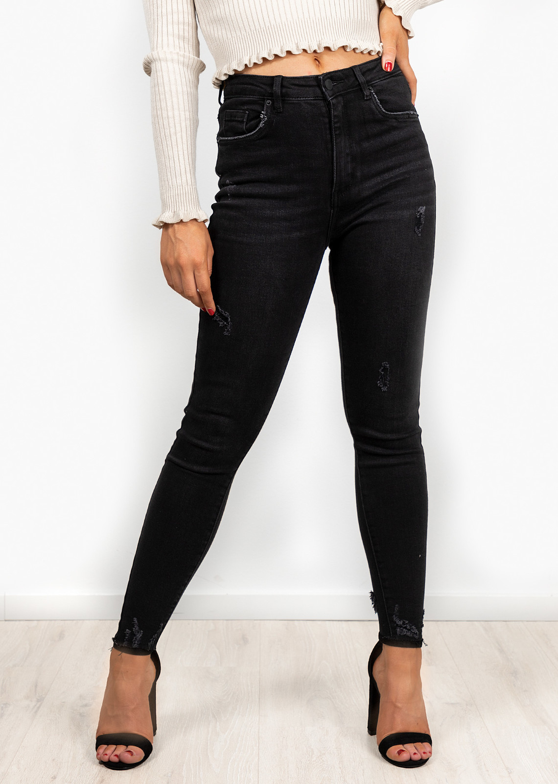 Denim jeans Veronique zwart
