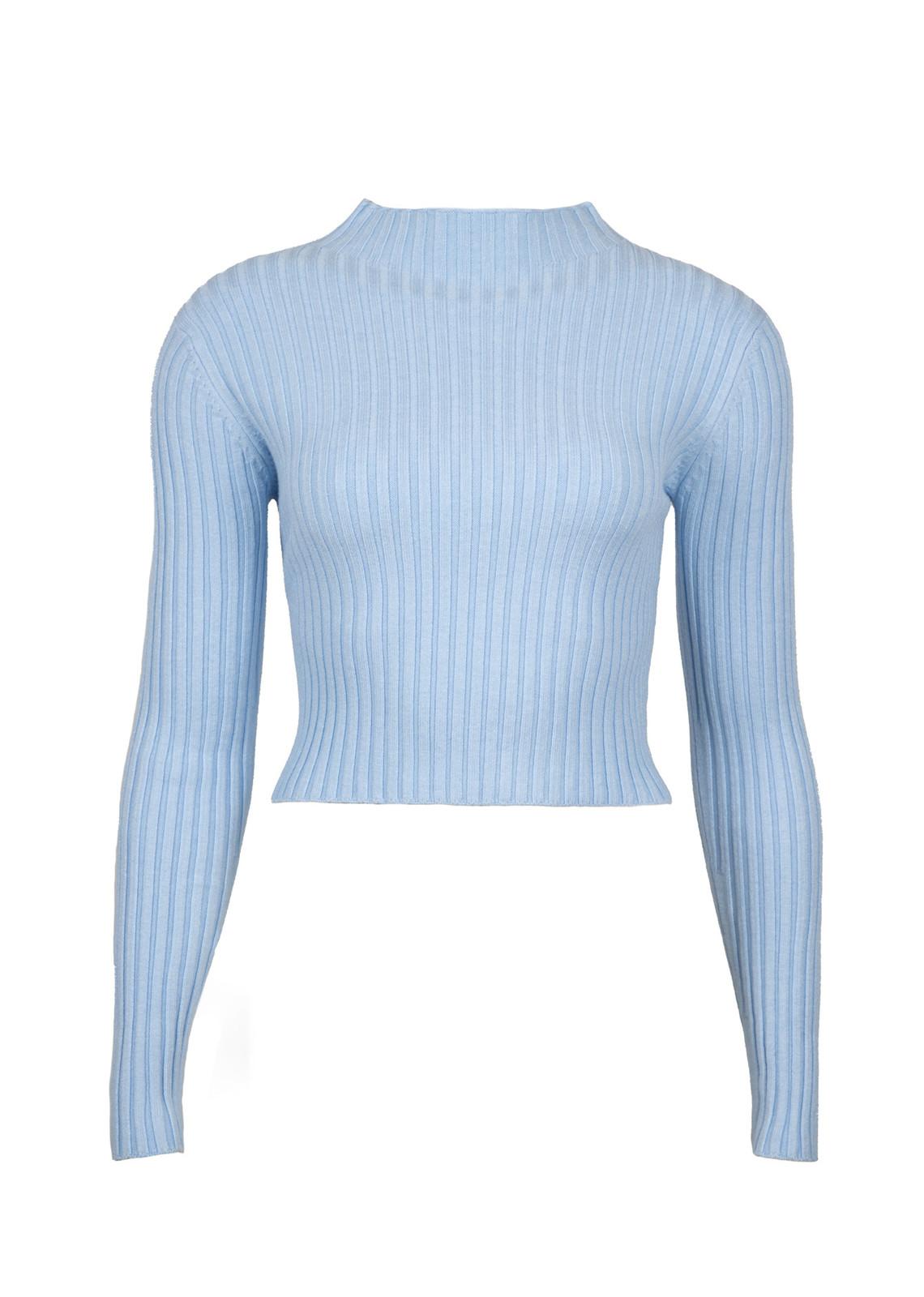 Basic top Valerie blauw