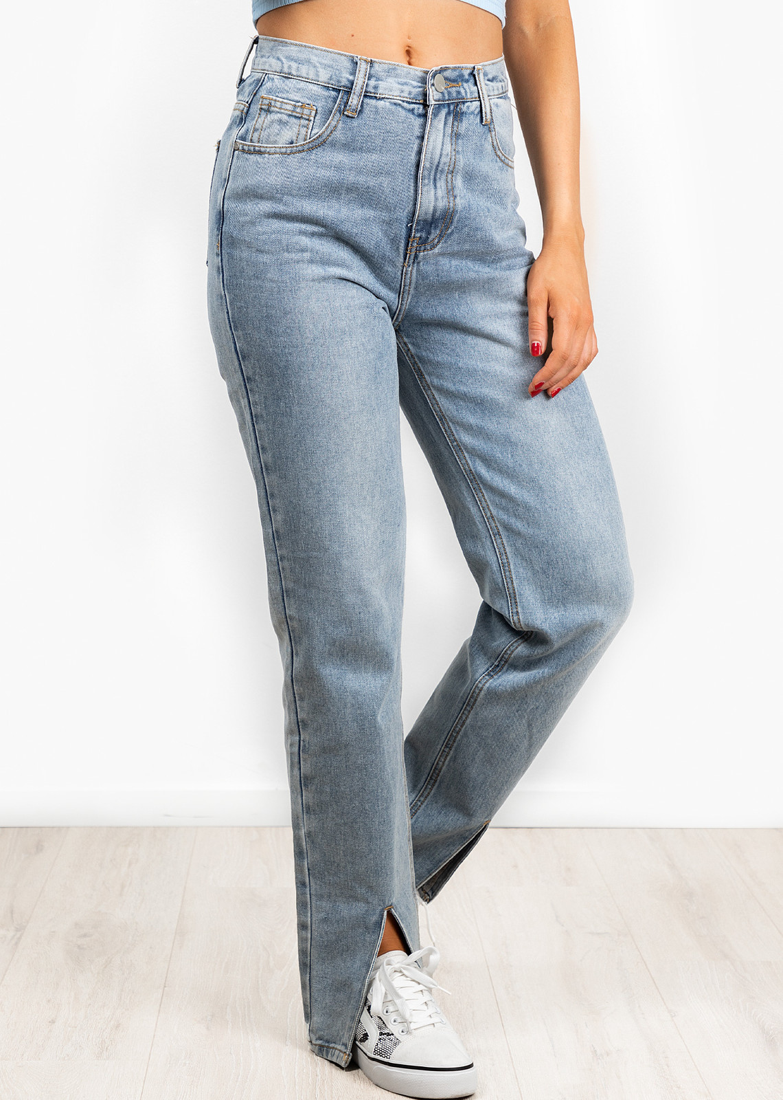 Denim jeans split Molly
