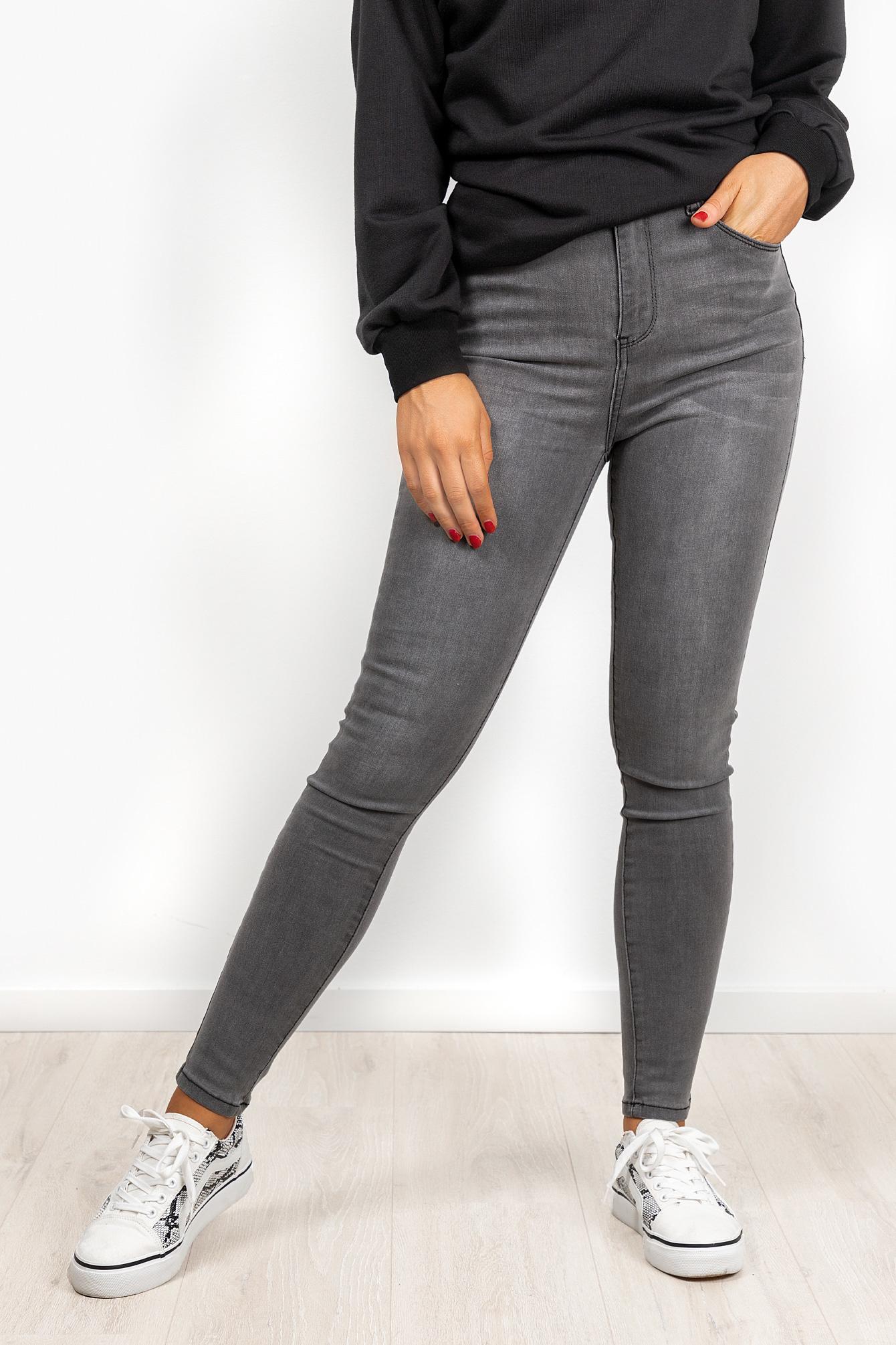 Denim jeans Joelle lichtgrijs
