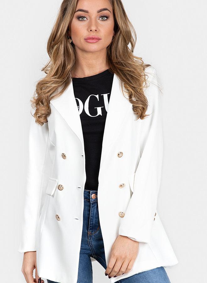 Sara blazer wit
