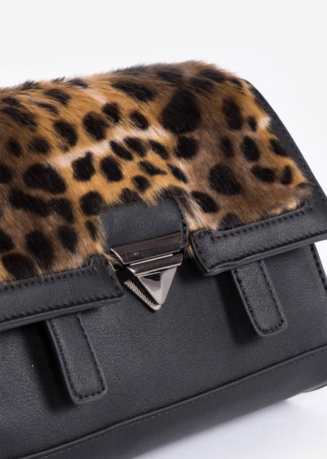 Faux fur bag leopard