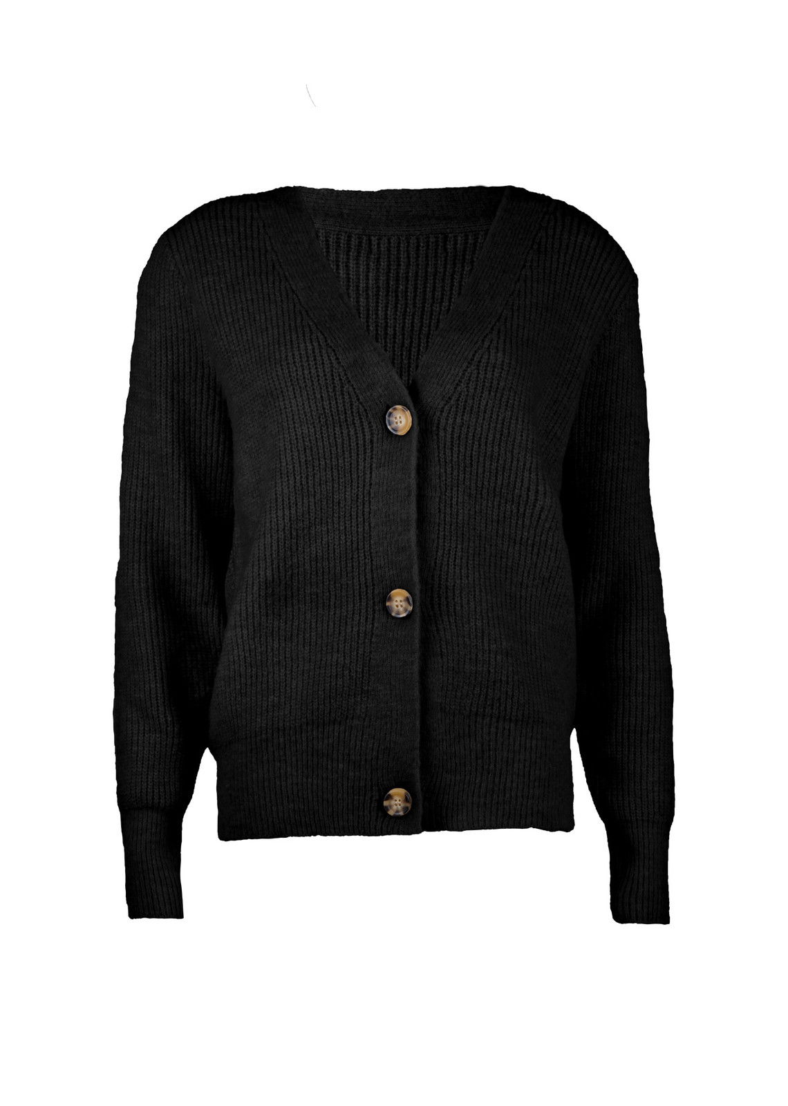 Button knit Vaja zwart