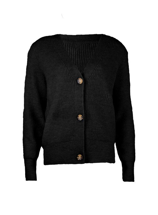 Button knit Vaja zwart