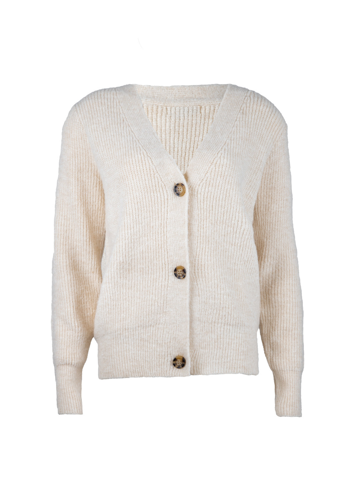 Button knit Vaja beige