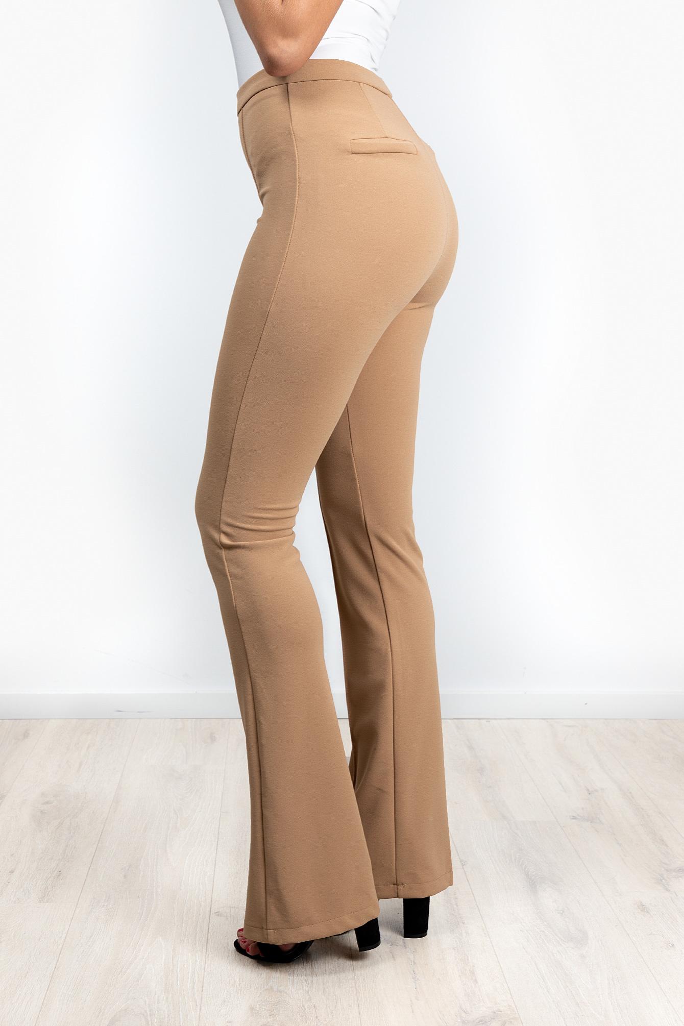 Flare broek Everly beige